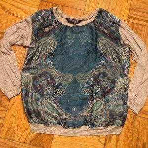 SINGLE LA Blouse- silk front & cotton arms & back